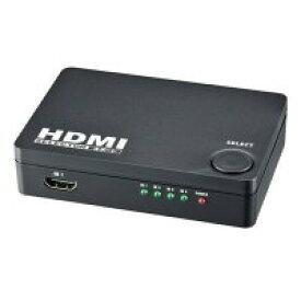 オーム電機 HDMIセレクター 4ポート 黒 AV-S04S-K