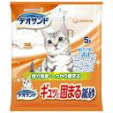 (まとめ買い)デオサンド ギュッと固まる紙砂 5L ×6袋