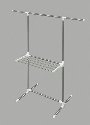 アイリスオーヤマ 簡単組立ステンレス室内物干し H−78SH