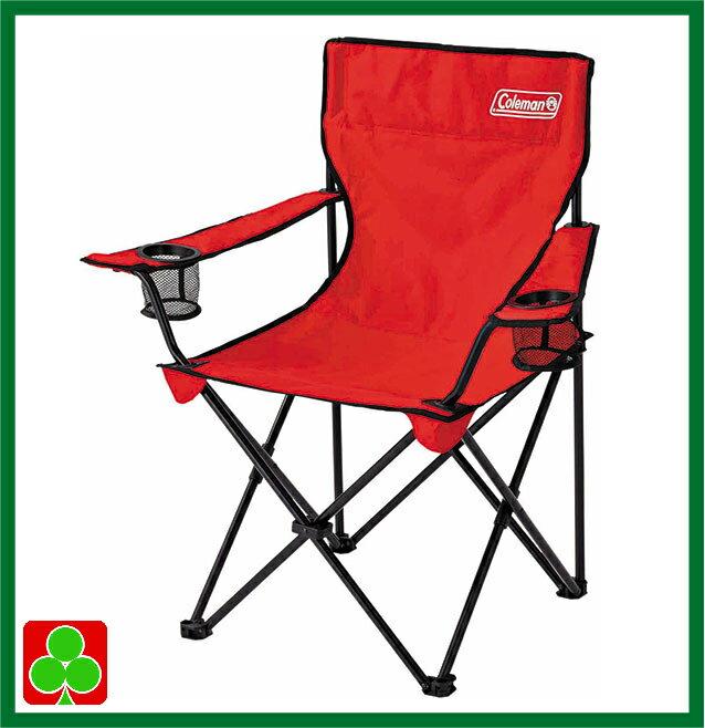 コールマン チェア Coleman 収束型チェア コールマン 折り畳み椅子 スポーツ観戦 キャンプ アームチェア レッド 収納袋付