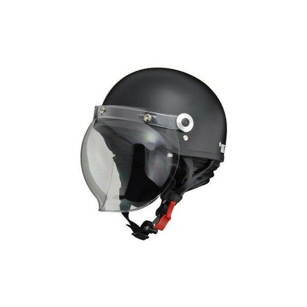 【お買い得】リード工業 バイクヘルメット ハーフジェット CROSS CR760 バブルシールド ハーフマットブラック フリー 57~60cm未満