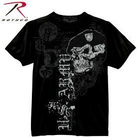 【メール便送料無料】ロスコ Rothco メンズ ビンテージ スカル Tシャツ Black Ink U.S. Army Skull w Beret T-Shirt rothco80415 2020 彼氏 男性向け