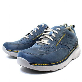 クラークス Clarks スニーカー 靴 革靴 カジュアルシューズ Charton Mix 本革 レザー ネイビー メンズ ブランド 男性向け 人気 新品 未使用 cl26115002