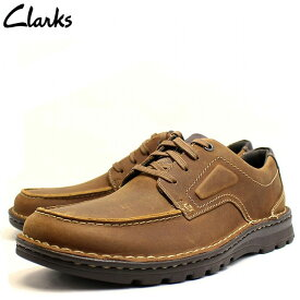 クラークス Clarks 靴 革靴 メンズ カジュアルシューズ 紐靴 本革 紳士靴 レザー ブラウン ブランド cl26128465 2021 彼氏 男性向け