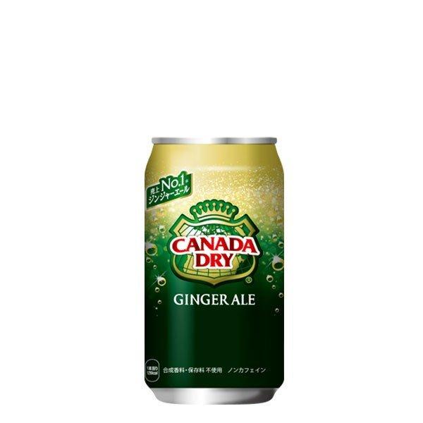 カナダドライジンジャエール350ml缶 24本入り×1ケース 送料無料 コカ・コーラ社直送 コカコーラ 4902102058742