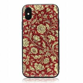 iPhone X ケース アイフォンケース イタリア製紙 日本製 スマホケース カバー ワイン 花柄 luminio ルミニーオ ブランド itl1902-2win 2021 春夏