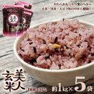 美人玄米玄米国産黒米玄米大豆無洗米食物繊維アントシアニンイソフラボン1kg5袋4982466008119bige8119-5