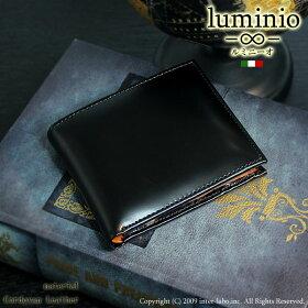 luminioルミニーオ財布二つ折り財布コードバンホースハイド馬革1016