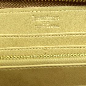 luminioルミニーオ長財布財布牛革イタリアンレザーラウンドファスナー