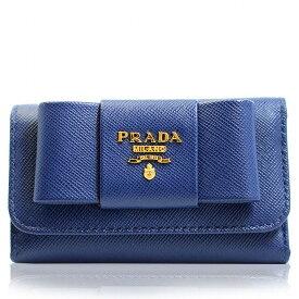 プラダ PRADA キーケース 6連 リボン アウトレット ブランド レディース 1m0222-safi-blue ブルー 2019 春夏 新作