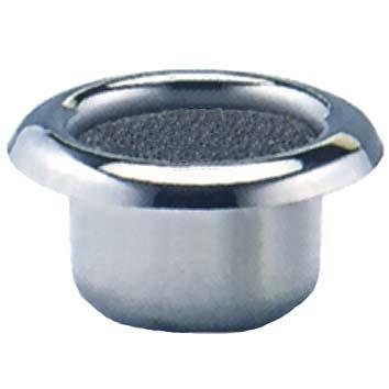ステンレス中入れ線香立(香炉・埋込兼用) 直径59mm 高さ45mm 水抜穴無しタイプ