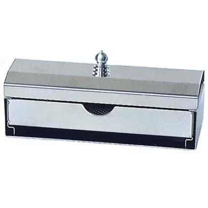 ステンレス製 蓋付引出線香皿(香炉皿)標準型 接着タイプ (G-402)