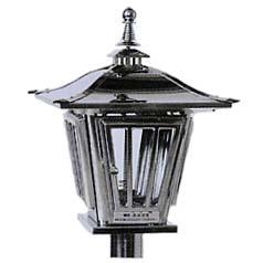 ステンレス製 燈籠型ローソク立ガラス風防タイプ (AY-3482)