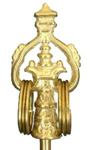 仏像用 錫杖(真鍮) 2尺5寸用 細タイプ 8φ