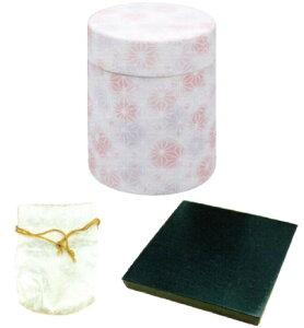 ネジ式ミニ骨壷「和織」(瀬戸焼) 花鞠(骨壷・袋・黒木台セット)
