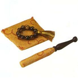 【ペット用仏具】輪Ring 虎目石(金茶) 2.3寸りん用 (おりんは別売りです)