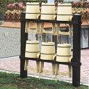 アルミ製 手桶収納棚 6個用 【代引不可】
