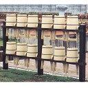 アルミ製 手桶収納棚 12個用 【代引不可】
