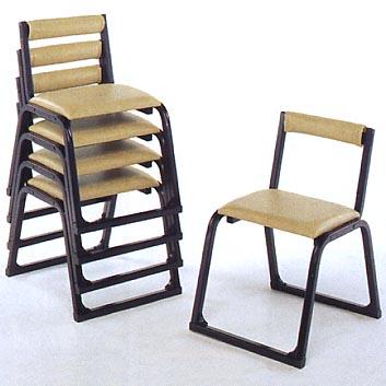 アルミ製本堂用椅子 1-TA型 (黒色/背付)5脚セット【送料無料・代引不可】