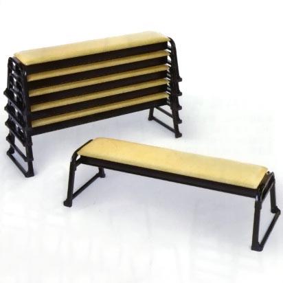 UACJ金属加工 アルミ製 本堂用椅子(長椅子3人掛け用) 背もたれ無 2脚セット 【送料無料】【代金引換・後払い決済不可】