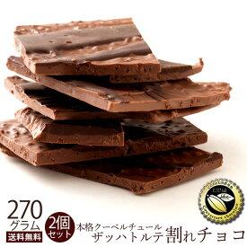 【予約販売】 チョコレート 送料無料 訳あり スイーツ 割れチョコ 本格クーベルチュール使用 割れチョコ ザッハトルテ 270g×2個セット 割れチョコレート クーベルチュール 訳あり チョコ チョコレート 業務用 製菓材料 板チョコ