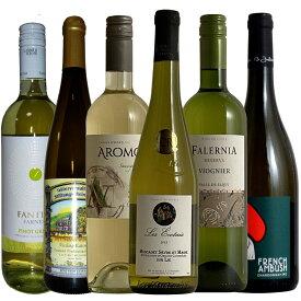 【世界の主要品種飲み比べ白6種】ワインが解る近道!各ぶどう品種の特徴を楽しむ単一品種飲み比べ6本セット! ギフト 750ML