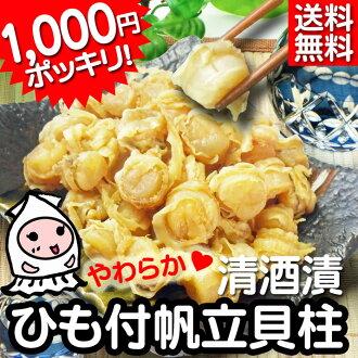 清酒浸泡繩扇貝 1000 日元在 100g 的露營地 !扇貝 / 講究扇貝