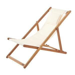 天然木デッキチェア(折りたたみ椅子) 木製/アカシア NX-512 〔アウトドア キャンプ お庭 テラス〕
