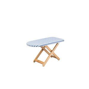 スタンド式 アイロン台 【Sサイズ ブルー】 幅80cm 木製 綿 スチール 脚付き 〔リビング 寝室 ベッドルーム〕