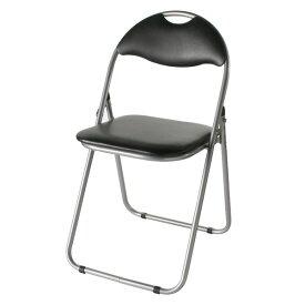 ★今夜20時-4H全品P5倍★折りたたみパイプ椅子 スチール 背もたれ付き (会議用椅子/ミーティングチェア) IK-0102