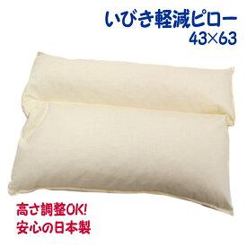 イビキ 枕 43×63 レギュラーサイズ(いびき 軽減 ピロー) いびき 対策 防止 まくら パイプピロー