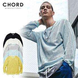 30%OFF SALE セール コードナンバーエイト CHORD NUMBER EIGHT MESH LONG SLEEVE CUTSEW ch01-02l1-cl02 メンズ レディース Tシャツ 送料無料 ストリート
