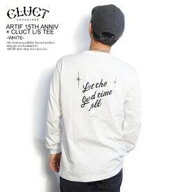 クラクト CLUCT ARTIF 15TH ANNIV × CLUCT L/S TEE -WHITE- ARTIF別注 当店限定 02987 メンズ レディース Tシャツ 長袖 コラボ ストリート cluct