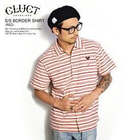クラクト CLUCT S/S BORDER SHIRT -RED- 03016 cluct メンズ レディース シャツ 半袖 ボーダー 刺繍 イーグル カットソー トップス 送料無料 ストリート 即日発送
