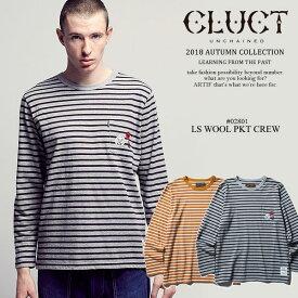 30%OFF SALE セール クラクト CLUCT L/S WOOL PKT CREW cluct 02801 レディース メンズ Tシャツ 送料無料