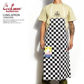 クックマン COOKMAN LONG APRON -CHECKER- 233-91903 レディース メンズ エプロン ロングエプロン ストリート おしゃれ かっこいい カジュアル ファッション cookman