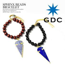 ジーディーシー GDC SPHINX BEADS BRACELET レディース メンズ ブレスレット ビーズ アクセサリー ウッドビーズ ラピスラズリ 天然石 おしゃれ かっこいい ストリート ファッション gdc メール便可