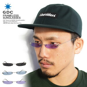 ジーディーシー GDC FRAMELESS SUNGLASSES c40002 レディース メンズ サングラス 眼鏡 カラーレンズ 伊達メガネ フレームレス アクセサリー おしゃれ かっこいい カジュアル ファッション ストリート