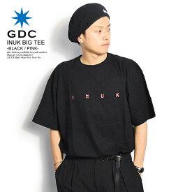 ジーディーシー GDC INUK BIG TEE -BLACK/PINK- レディース メンズ Tシャツ 半袖 半袖Tシャツ ロゴ ビッグT おしゃれ かっこいい カジュアル ファッション ストリート gdc tシャツ
