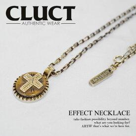 クラクト CLUCT EFFECT NECKLACE メンズ レディース ネックレス シルバー 真鍮 クロス 送料無料 ストリート