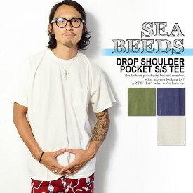 SEABEEDS シービーズ DROP SHOULDER POCKET S/S TEE メンズ Tシャツ 半袖 半袖Tシャツ tシャツ ビッグT ビッグサイズ ドロップショルダー ストリート カジュアル シンプル 無地 おしゃれ かっこいい 大きいサイズ
