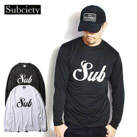 サブサエティ スポーツ SBCY SPORTS DRY TEE L/S-MIDDLE LOGO- subciety 116-44045 レディース メンズ Tシャツ 送料無料 ストリート