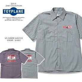 30%OFF SALE セール トイプレーン TOYPLANE S/S HOOD WATCH STRIPE SHIRT tp19-nsh03 toyplane メンズ レディース シャツ 送料無料 ストリート