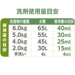 ファーファココロ洗たく用洗剤500ml使用量
