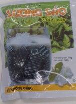 【ベトナム】【青草ゼリー】【ベトナム亀ゼリー】【健康オヤツ】2種の薬草の青汁ゼリーのような健康オヤツ。【薬膳ゼリー】50g入り袋