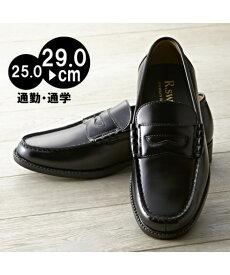 メンズシューズ ビジネス 大きいサイズ メンズ 通勤 通学 対応 ローファー 靴 ブラック 25〜29cm ニッセン nissen