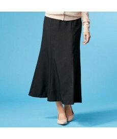 スカート ロング丈 マキシ丈 大きいサイズ レディース マーメイド ゆったり ヒップ 年中 黒 ウエスト84/88/92cm ニッセン