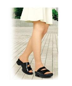 AKAISHI サンダル レディース アーチフィッター402 O脚 靴 ブラック 22.0〜22.5/23.0〜23.5/24.0〜24.5cm ニッセン nissen