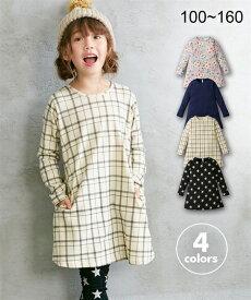 37b92774451b9 アウター キッズ AラインTワンピース(女の子 子供服・ジュニア服)ポケット付