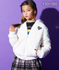 e1827e3211043 アウター キッズ ミミ付ボアジップアップパーカージャケット(女の子 子供服・ジュニア服